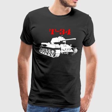 T 34 Soviet Russin World War II Tank - Men's Premium T-Shirt