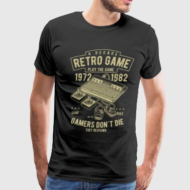 Decade Retro Games - Funny Gamer Shirt Gift - Men's Premium T-Shirt