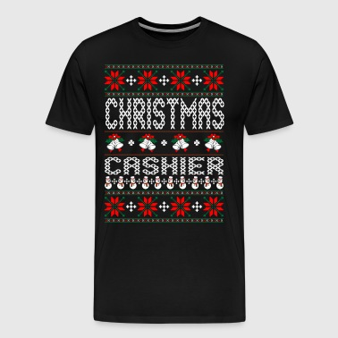Cashier Ugly Christmas Sweater - Men's Premium T-Shirt
