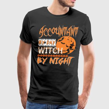 Accountant By Day Witch By Night Halloween - Men's Premium T-Shirt