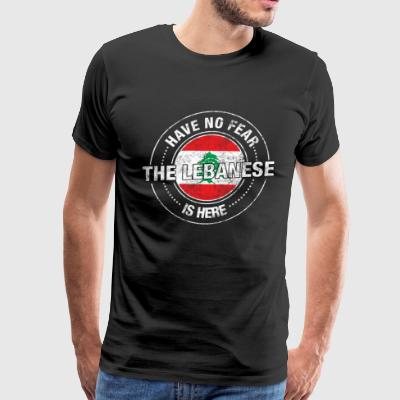 Have No Fear The Lebanese Is Here - Men's Premium T-Shirt
