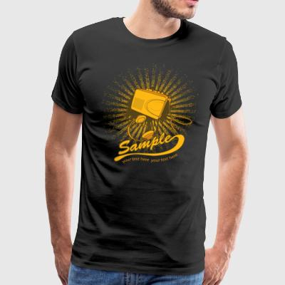 Music t shirt design with walkman - Men's Premium T-Shirt