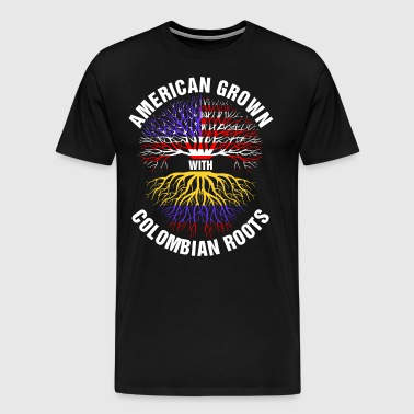 American Grown Colombian Roots - Men's Premium T-Shirt