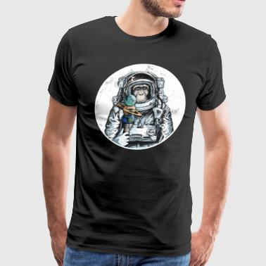 Ape Astronaut Outer Space Ice Cream Moon Monkey - Men's Premium T-Shirt