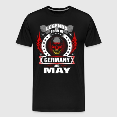Legends born in Germany and May - Men's Premium T-Shirt