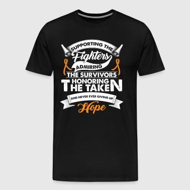 Supporting The Fighters Leukemia Cancer | Ribbon - Men's Premium T-Shirt