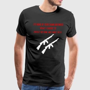 Gun Protect Home And Family T Shirt - Men's Premium T-Shirt