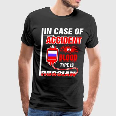 My Blood Type is Russian - Men's Premium T-Shirt