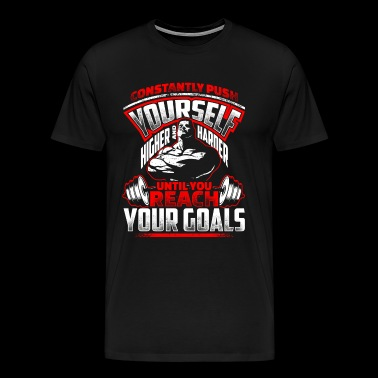 Reach your Goals Fitness EN - Men's Premium T-Shirt