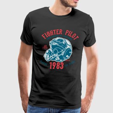 Fighter Pilot2 - Men's Premium T-Shirt