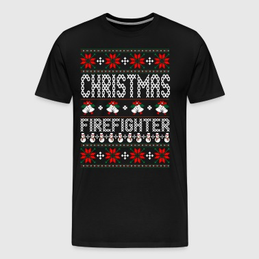 Firefighter Ugly Christmas Sweater - Men's Premium T-Shirt