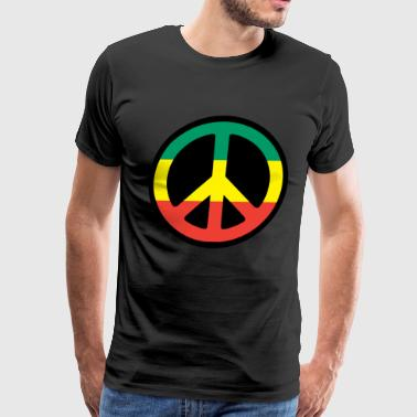 Rasta Peace - Reggae - Rastafari - Freedom - Men's Premium T-Shirt