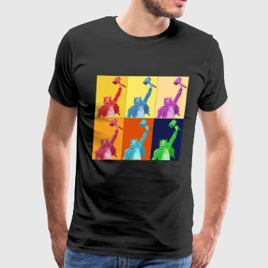 Hammer Pop Art Warhol Style Gift - Men's Premium T-Shirt