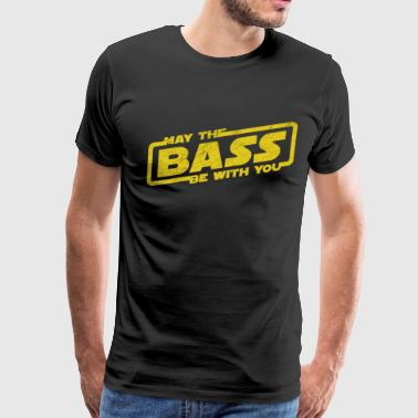 May The Bass Be With You Electro Party Techno EDM - Men's Premium T-Shirt