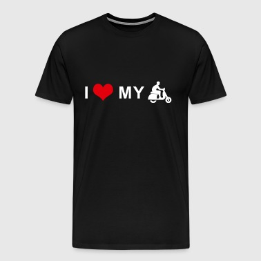 I LOVE MY MOTORCYCLE - Scooter - Men's Premium T-Shirt