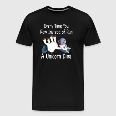 Row/Run Unicorn - Men's Premium T-Shirt