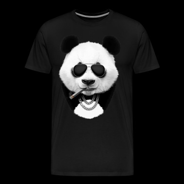 Panda in black - Men's Premium T-Shirt