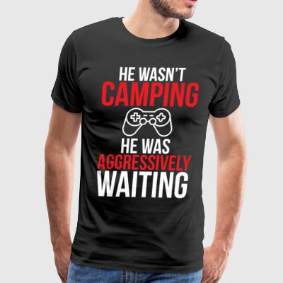 Video Game Camping Funny Gamer T-shirt - Men's Premium T-Shirt