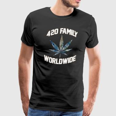 420 WORLDWIDE FAMILY WEED MARIHUANA T-SHIRT - Men's Premium T-Shirt