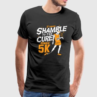 SHAMBLE TO THE CURE ZOMBIE 5K - Men's Premium T-Shirt