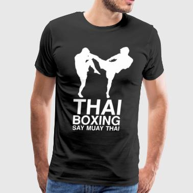 Thai Boxing T Shirt - Men's Premium T-Shirt