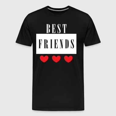 My best friend with red heart - Men's Premium T-Shirt