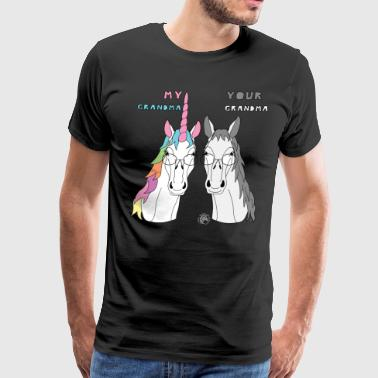 My Your Grandma Unicorn Horse - Men's Premium T-Shirt