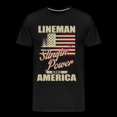 Lineman Slinging Power T Shirt - Men's Premium T-Shirt