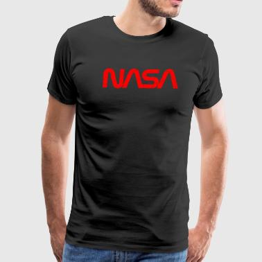 official worm logo cracked distressed gift NASA space - Men's Premium T-Shirt