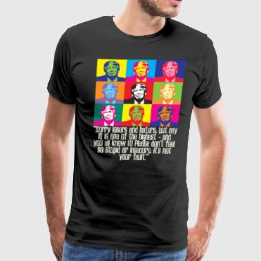 funny trump quote huge IQ losers and haters pro anti president Donald maga - Men's Premium T-Shirt