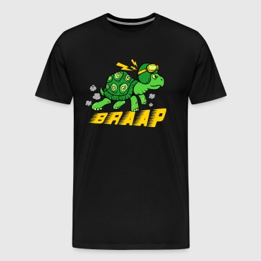 Cute kids tortoise with a helmet braap shirt - Men's Premium T-Shirt