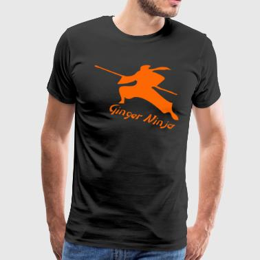 Ginger Ninja Proud Red Head - Men's Premium T-Shirt