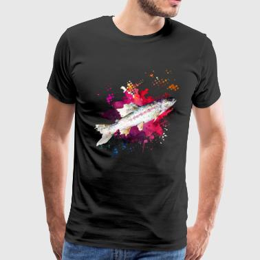 Salmon Watercolor Shirts - Men's Premium T-Shirt