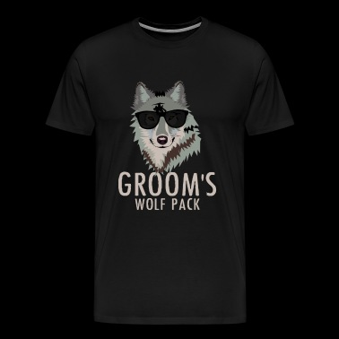 Wolfpack / Groom - Bachelor Party Funny Wolf Pack - Men's Premium T-Shirt