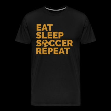 Eat Sleep Soccer | Soccer Player - Men's Premium T-Shirt