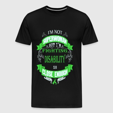 Disability - Fighting disability like superwoman - Men's Premium T-Shirt