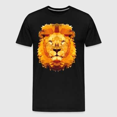 Lion low poly - Men's Premium T-Shirt
