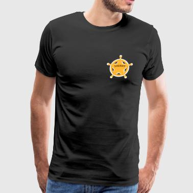 Sheriff star design gift idea for kids - Men's Premium T-Shirt