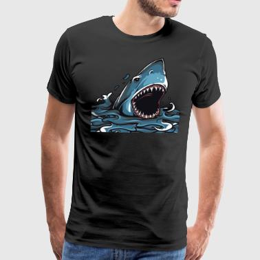 Sharks are scary & sharks are love - Men's Premium T-Shirt