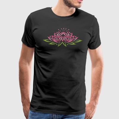 Large lotus flower with colorful effects. Yoga, we - Men's Premium T-Shirt