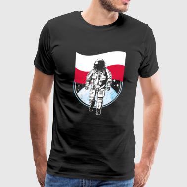 Astronaut moon Poland flag polska - Men's Premium T-Shirt