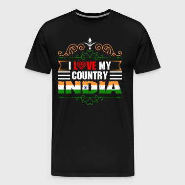 I Love My Country India - Men's Premium T-Shirt