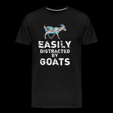 Easily Distracted By Goats Shirt Goat Lover T Shir - Men's Premium T-Shirt