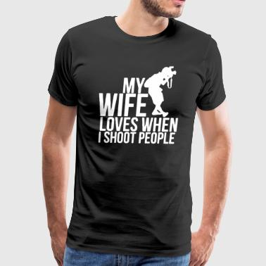 Proud Photographer My Wife Love T Shirt - Men's Premium T-Shirt