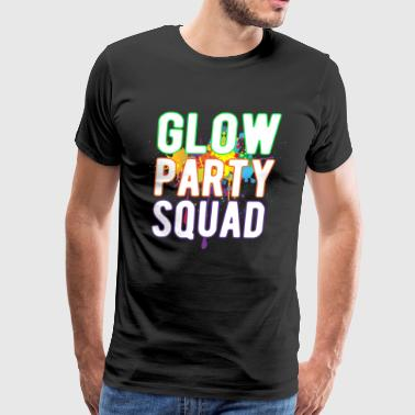 Glow Party Squad Paint Colorful Cool Glow Party - Men's Premium T-Shirt