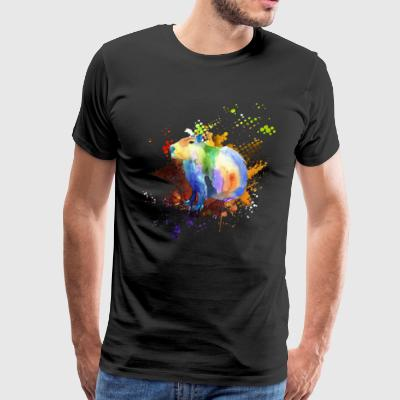 Capybara Watercolor T shirt - Men's Premium T-Shirt