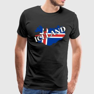MAP OF ICELAND SHIRT - Men's Premium T-Shirt
