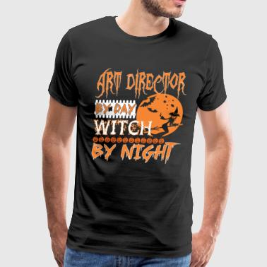 Art Director By Day Witch By Night Halloween - Men's Premium T-Shirt