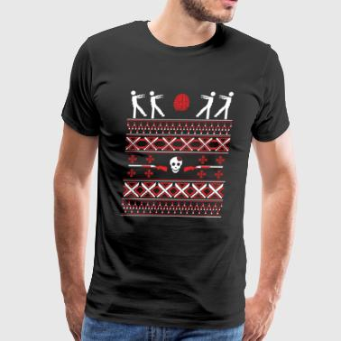 Zombie Christmas Sweater Funny T shirt - Men's Premium T-Shirt