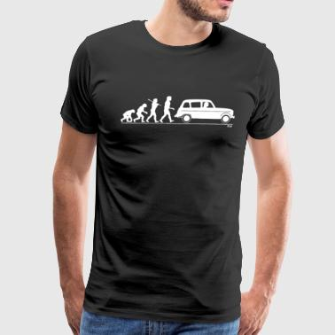 Evolution of Man classic car - Men's Premium T-Shirt